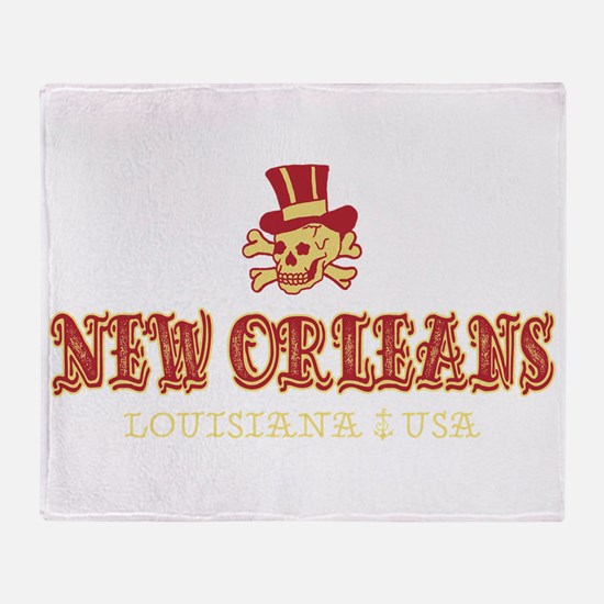 New Orleans Pirate - Throw Blanket