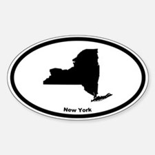 New York State Outline Oval Decal
