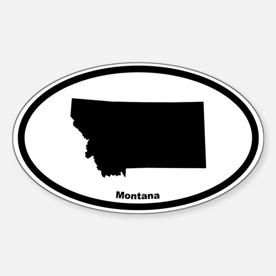Montana State Outline Oval Decal
