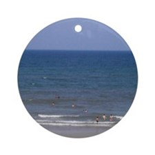 Fun At The Beach Ornament (Round)