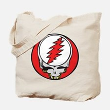 Skull with Red Lightning Bolt Tote Bag