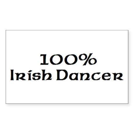 100% Irish Dancer Rectangle Sticker