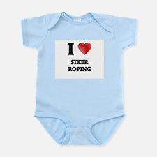 I Love Steer Roping Body Suit