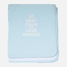 Keep Calm and Love IGNACIO baby blanket