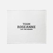 Team ROSEANNE, life time member Throw Blanket