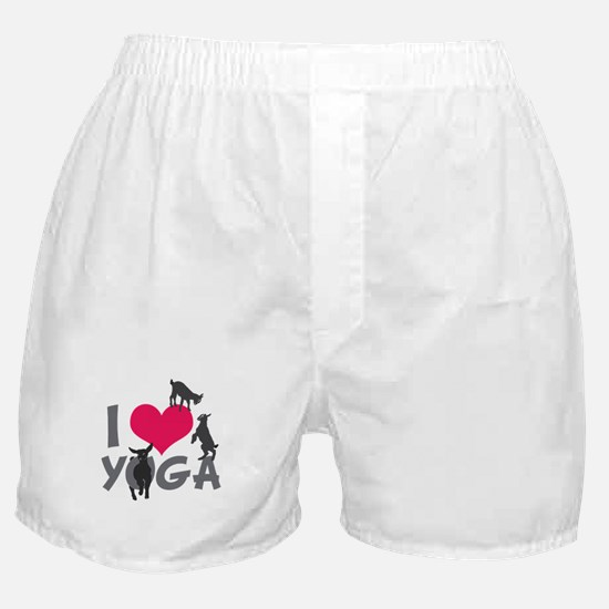 I Heart Goat Yoga   GetYerGoat™ Boxer Shorts