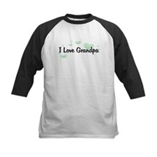 Love Grandpa Green Hearts Tee