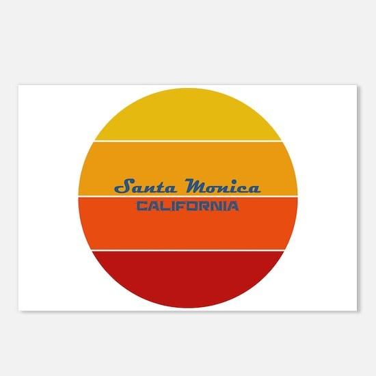 California - Santa Monica Postcards (Package of 8)