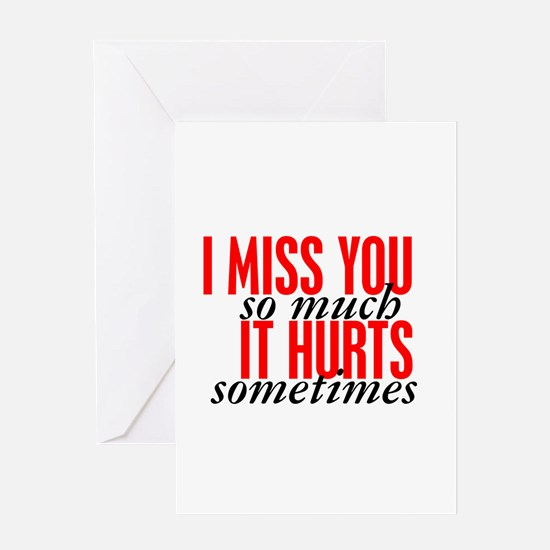 Scrubs I Miss You Quote Greeting Cards