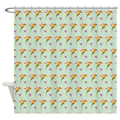 unique purple green shower curtain
