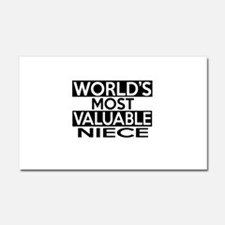 World's Most Valuable Niece Car Magnet 20 x 12