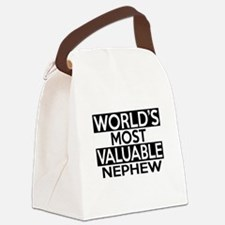 World's Most Valuable Nephew Canvas Lunch Bag