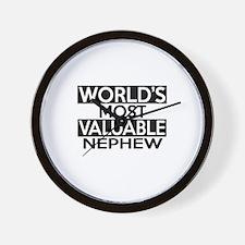 World's Most Valuable Nephew Wall Clock