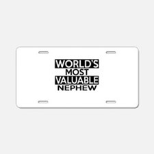 World's Most Valuable Nephe Aluminum License Plate