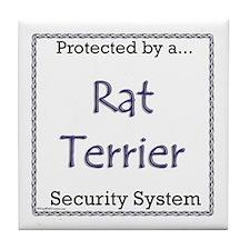 Rat Terrier Security Tile Coaster
