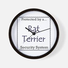 Rat Terrier Security Wall Clock