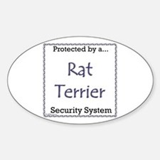 Rat Terrier Security Oval Decal