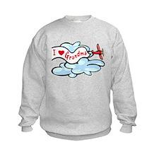 I Love Grandma Airplane Sweatshirt