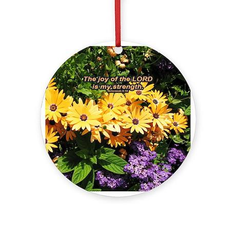 """My Joy"" Flower Inspirational Ornament"