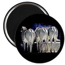 """Zebra Butts 2.25"""" Magnet (10 pack)"""