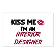 Kiss Me I'm a INTERIOR DESIGNER Postcards (Package