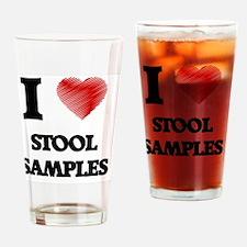 I love Stool Samples Drinking Glass