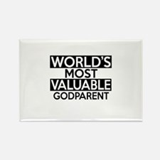 World's Most Valuable Godparent Rectangle Magnet