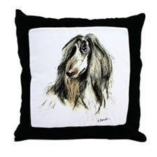 Afghan Hound #3 Throw Pillow