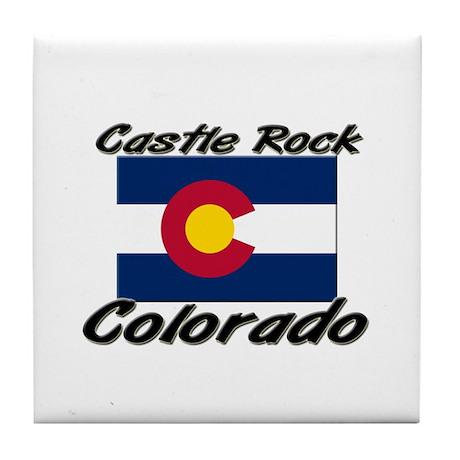 Castle Rock Colorado Tile Coaster