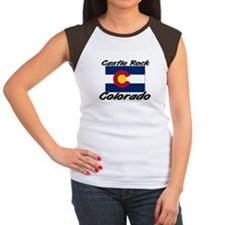 Castle Rock Colorado Women's Cap Sleeve T-Shirt