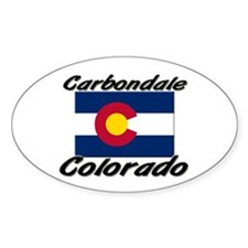 Carbondale Colorado Oval Decal
