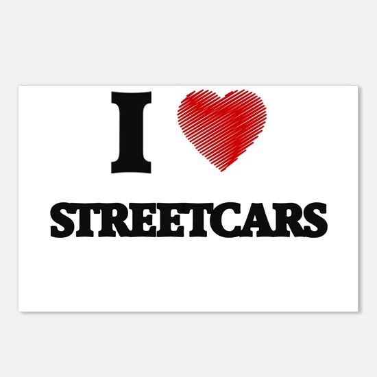 I love Streetcars Postcards (Package of 8)