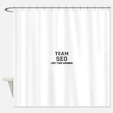 Team SEO, life time member Shower Curtain