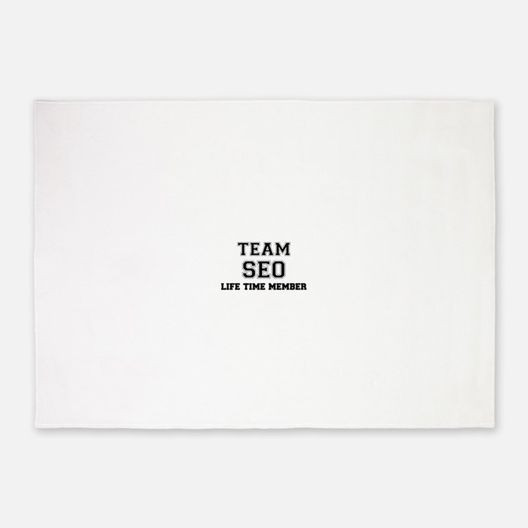 Team SEO, life time member 5'x7'Area Rug