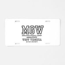 AIRPORT CODES - MGW - MORGA Aluminum License Plate