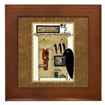 Crows in the Cupboard Framed Tile