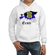 Estonia flag map Hoodie