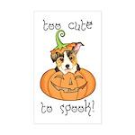 Halloween Corgi Rectangle Sticker