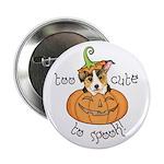 Halloween Corgi Button