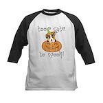 Halloween Corgi Kids Baseball Jersey