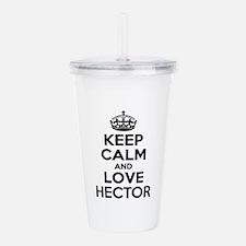 Keep Calm and Love HEC Acrylic Double-wall Tumbler