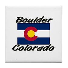 Boulder Colorado Tile Coaster