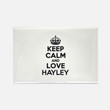 Keep Calm and Love HAYLEY Magnets