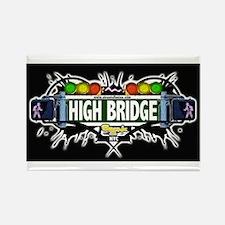 high bridge (Black) Rectangle Magnet