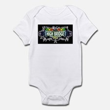 high bridge (Black) Infant Bodysuit