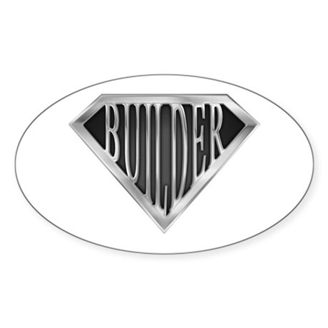 SuperBuilder(metal) Oval Sticker