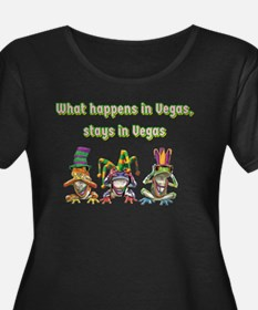 No Evil Vegas Frogs Plus Size T-Shirt