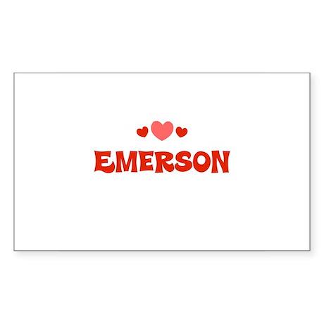 Emerson Rectangle Sticker