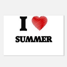 I love Summer Postcards (Package of 8)