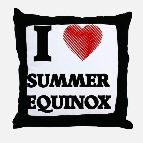 I love Summer Equinox Throw Pillow